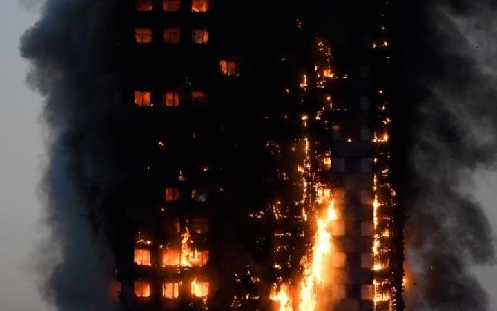 Grenfell Tower fire Massive blaze engulfs 24-storey block of flats in west London as trapped residents scream for help