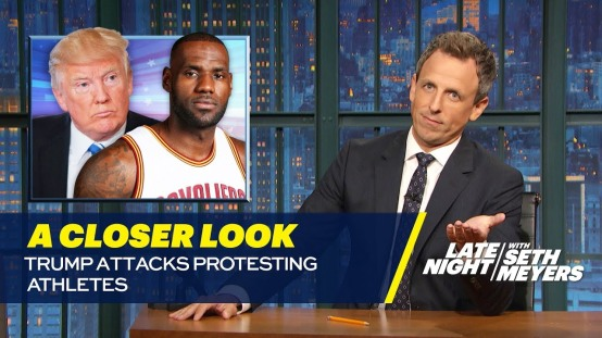 Seth Meyers tears Donald Trump for assaulting NFL contenders