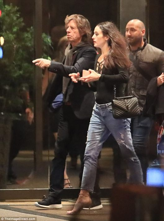 72 year old Rolling Stones Legend, Mick Jagger Steps Out With With 22-year-old Lover