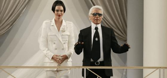 Kendall Jenner and Karl Lagerfeld Patrick KovarikAFPGetty Images