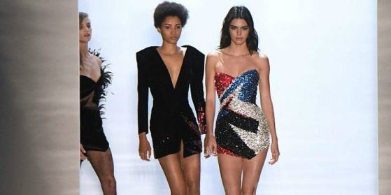 Kendall Jenner in Alexandre Vauthier Alain JocardAFPGetty Images