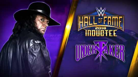 THE UNDERTAKER GETTING INDUCTED INTO HOF