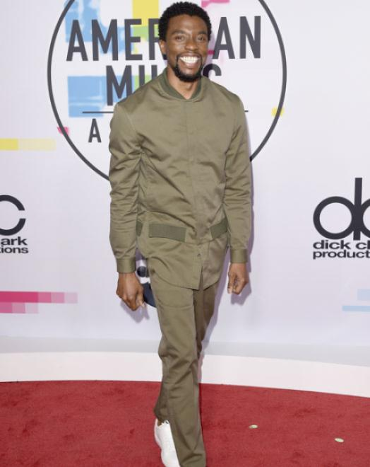 Chadwick Boseman - American Music Awards 2017 - Credit Getty Images