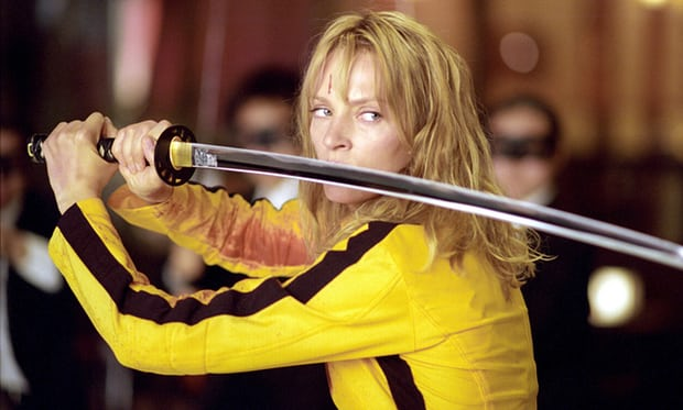 Uma Thurman in Kill Bill, which was produced by Harvey Weinstein_s company. Photograph MiramaxEverett Rex Features