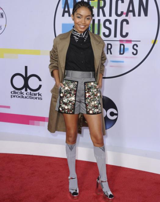 Yara Shahidi - American Music Awards 2017 - Credit Getty Images