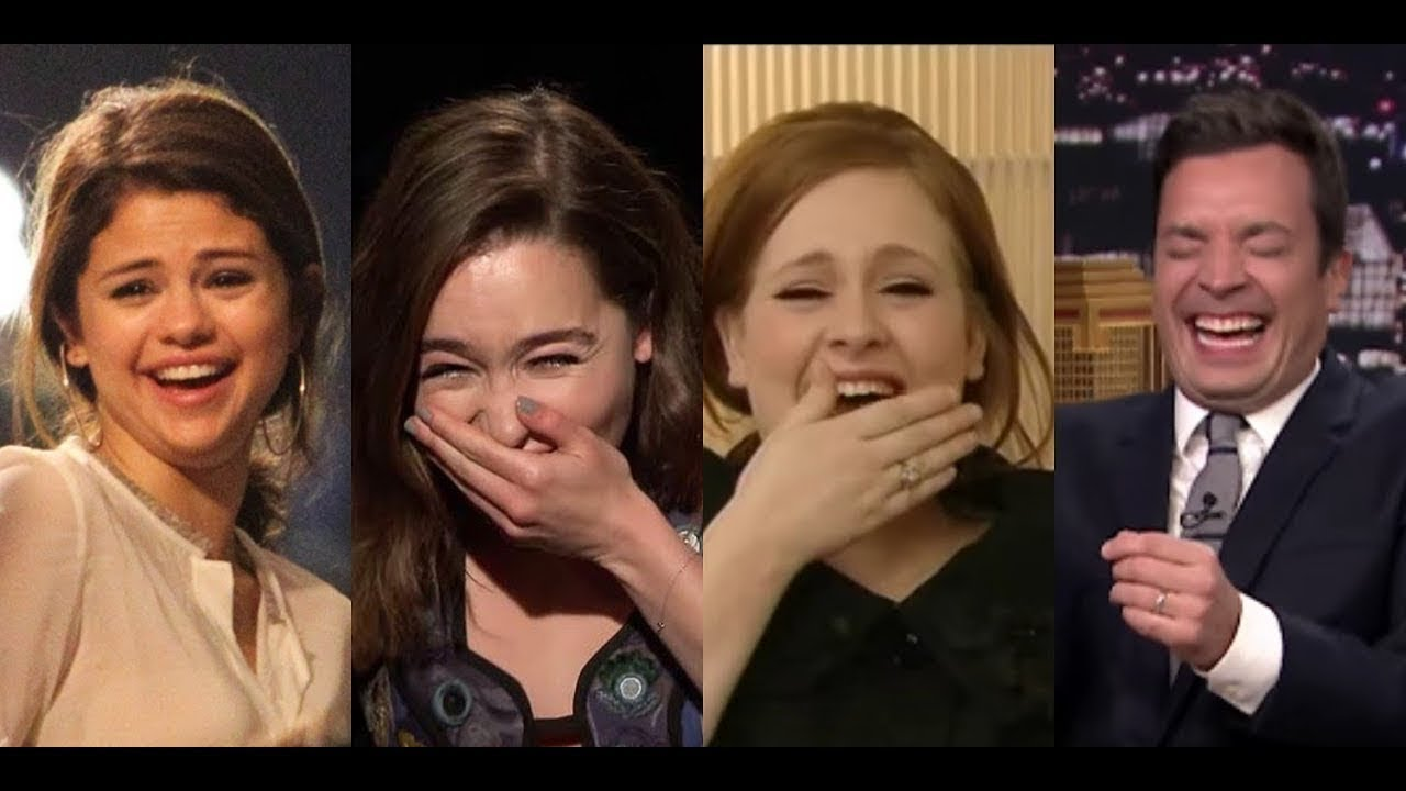 Funniest Celebrity Laughs Compilation Couldn't Control Their Laughter In Interview LAUGHING FITS