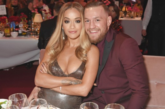 Rita Ora and Conor McGregor attend the 2017 Fashion Awards in London. Image Credit - Getty Images