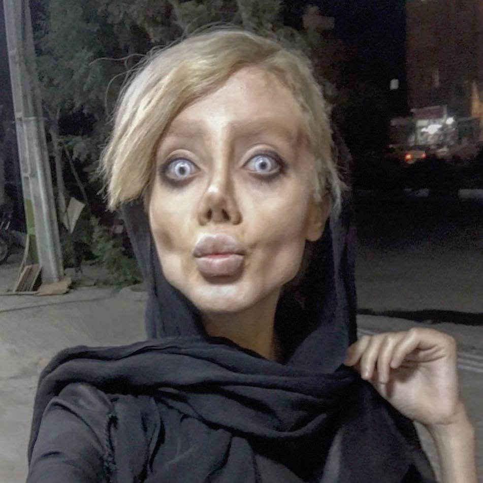 Sahar Tabar The Girl Who Allegedly Had 50 Surgeries To Look Like Angelina Jolie